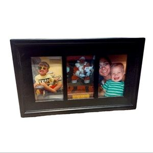 """Black Wooden 3- 5x3"""" Photo Picture Frame"""